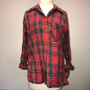 Brand New with Tag Topshop Red Flannel Size US 4